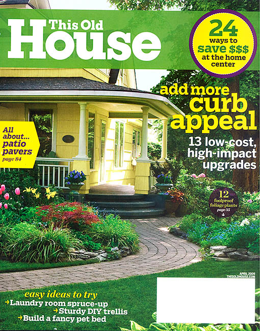 This Old House April 2009 Cover