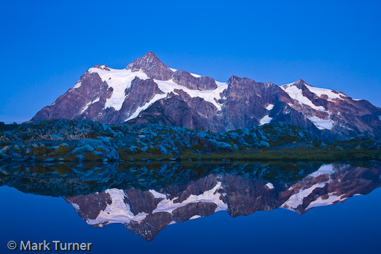 Mt. Shuksan at dusk