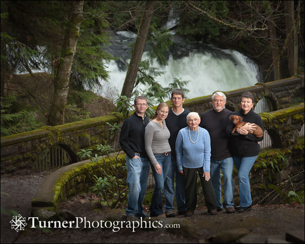 Stahlberg family at Whatcom Falls
