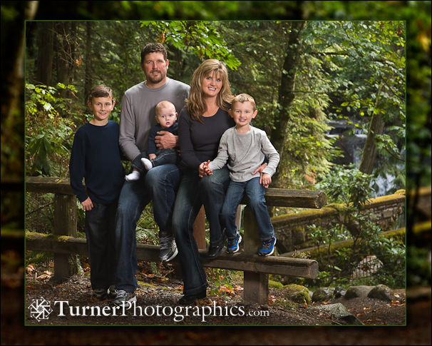 Autumn Family Portrait at Whatcom Falls