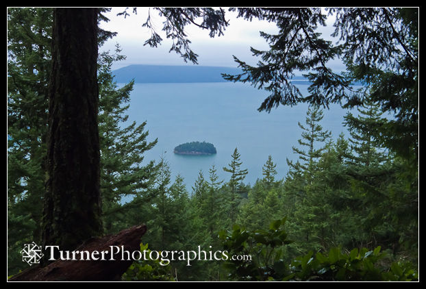Chuckanut Island from Chuckanut Ridge