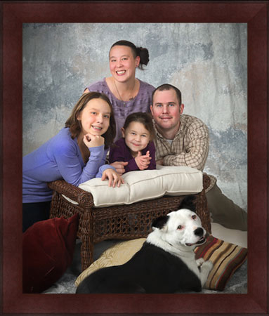 Rachel Andrews & Alex Howard family portrait