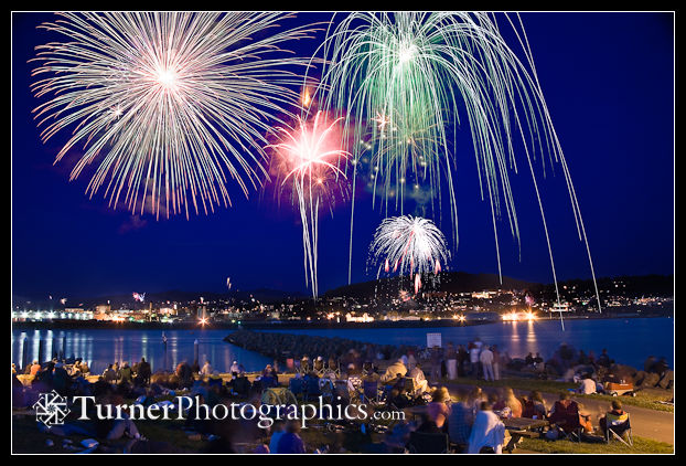 Bellingham fireworks from Zuanich Point Park