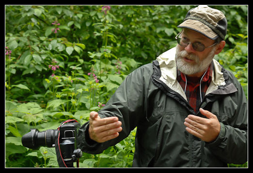 Photo: Mark Turner teaching wildflower photography