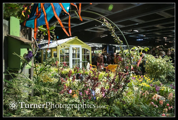 'The Art of Upcycling,' a display garden at the NW Flower & Garden Show designed by my friend Judith Jones. Seattle, WA. © 2014 Mark Turner