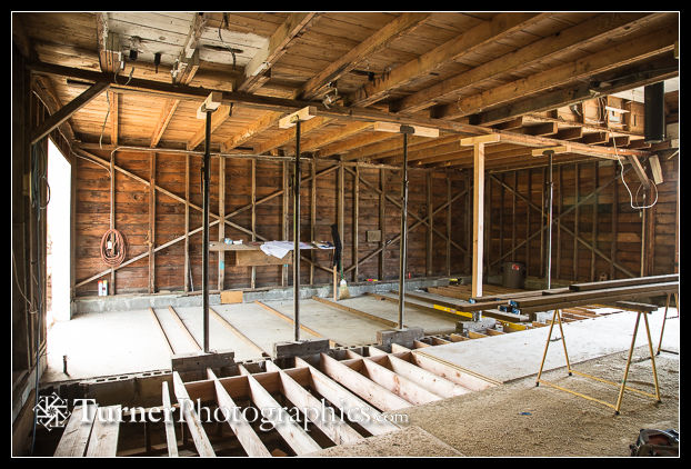 Floor joists and sub-floor