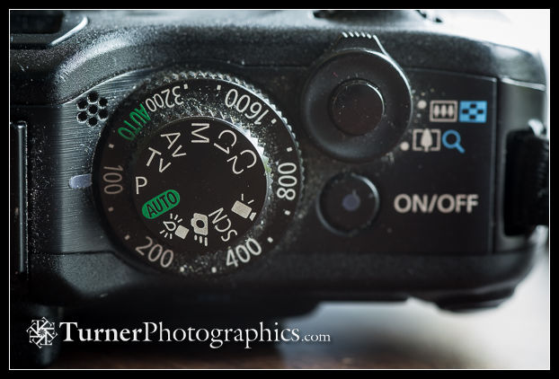 Canon G12 exposure mode and ISO dials