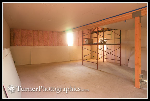 Camera room with drywall nearly complete
