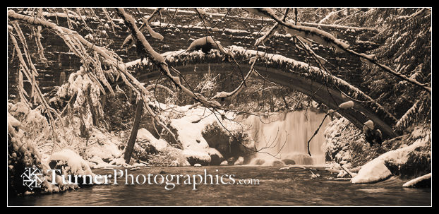 Whatcom Falls, winter