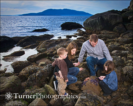 Family portrait at Larrabee State Park