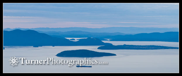 San Juan Islands from Oyster Dome