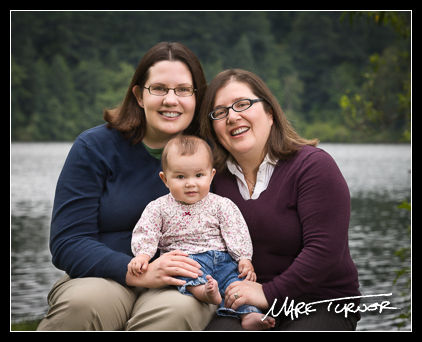 Family portrait at Lake Padden