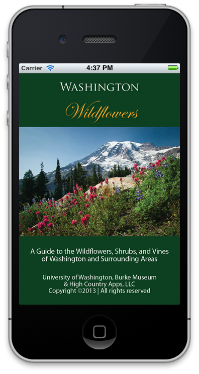 Washington Wildflowers launch screen