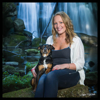 Senior portrait at Whatcom Falls Park