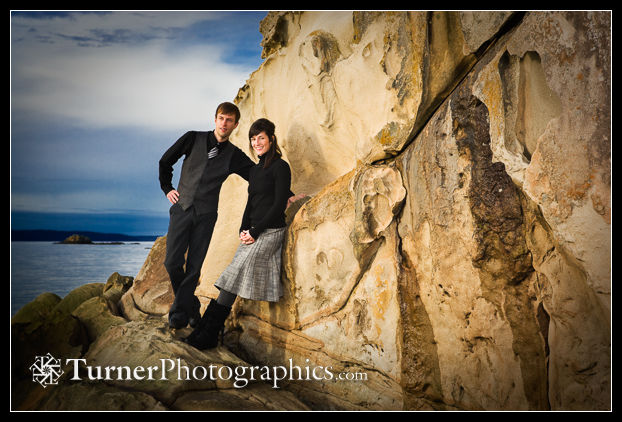 Portrait on the rocks at Larrabee