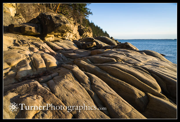 Eroded sandstone at Larrabee State Park
