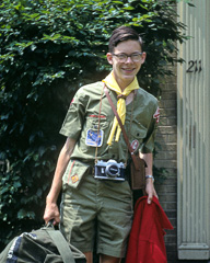 Mark Turner in Boy Scout uniform