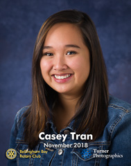 Casey Tran, November 2018 Squalicum High School student of the month. Bellingham, WA. © 2018 Mark Turner