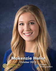 Makenzie Hofer, October 2018 Squalicum High School student of the month. Bellingham, WA. © 2018 Mark Turner
