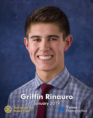 Griffin Rinauro, January 2019 Student of the Month