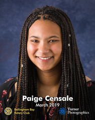 Paige Censale, March 2019 Squalicum High School student of the month