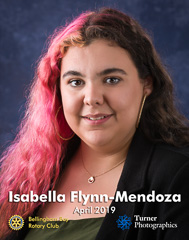 Isabella Flynn-Mendoza, April 2019 Squalicum High School student of the month