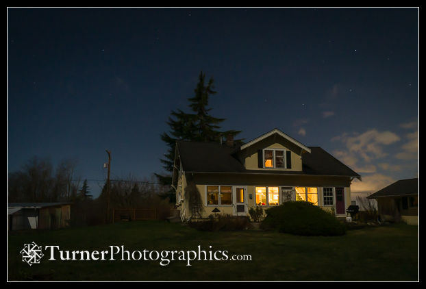 Home, by moonlight