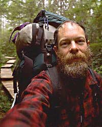 Mark Turner self portrait backpacking on the Olympic Peninsula